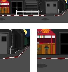 long street at night vector image