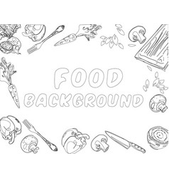 organic food background vector image vector image