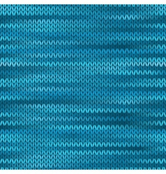 Seamless Knitted Melange Pattern Blue Turquoise vector image