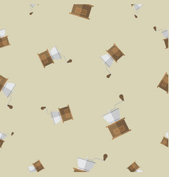 Seamless pattern with coffee grinder vector