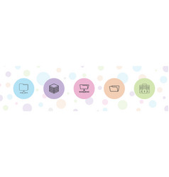 5 archive icons vector