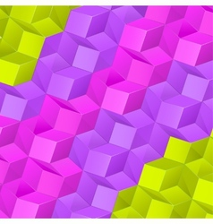 Abstract background with bright volume cubes vector