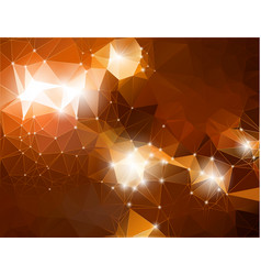 abstract shiny background brown polygonal vector image