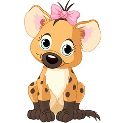 Baby girl hyena vector