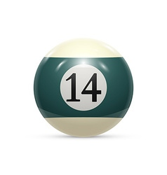 Billiard fourteen ball isolated on a white vector