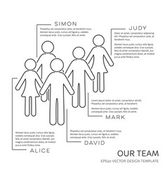 Black our team outline design template vector