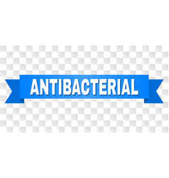 Blue stripe with antibacterial title vector