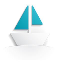 boat icon paper vector image