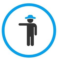 Boy Show Circled Icon vector image