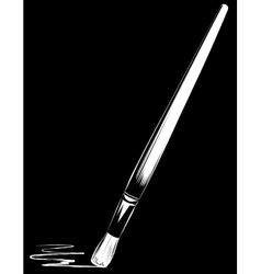 Brush on black background vector