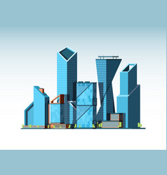 business cityscape landscape urban background vector image