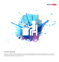 Business man working - watercolor background vector