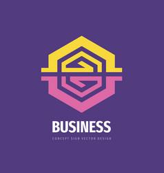 business strategy logo design development sign vector image