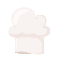 chef hat accessory icon isolated design vector image