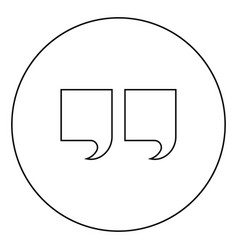 citation icon black color in circle vector image