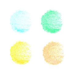 colorful chalked spots for design vector image