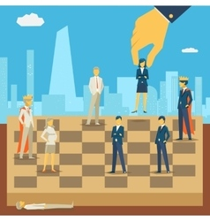 Corporate business chess vector