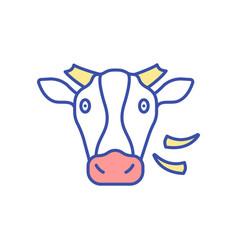 Cow rgb color icon vector