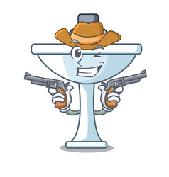Cowboy cartoon sink in the kitchen room vector