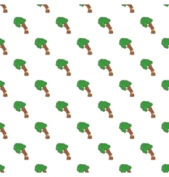 Cutting tree pattern cartoon style vector image