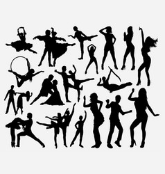 dance competition silhouette vector image