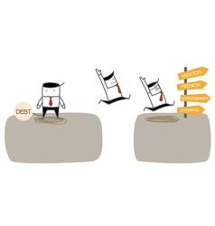 Debt Jump vector image