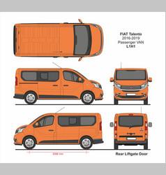 Fiat talento passenger van l1h1 2016-2019 vector