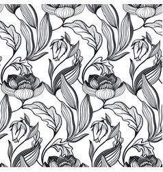 Floral seamless pattern romantic elegant vector