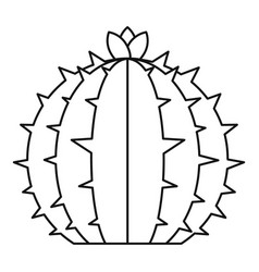 Flowering cactus icon outline style vector