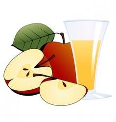 Glass of apple juice vector