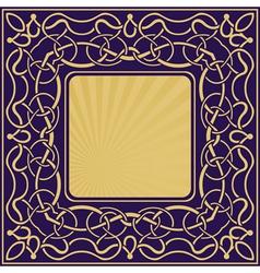 Gold vintage frame vector image