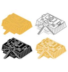Great ziggurat at ur in perspective view vector