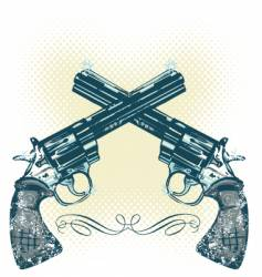 hand gun illustration vector image vector image