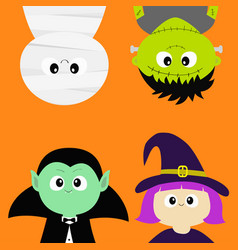 Happy halloween vampire count dracula mummy vector