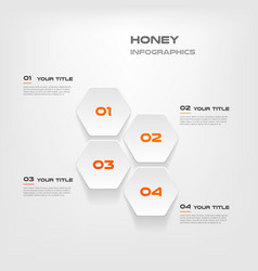 honeycombs gradient infographics step by step vector image
