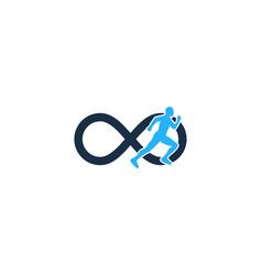 Infinity run logo icon design vector