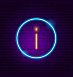 information button neon sign vector image