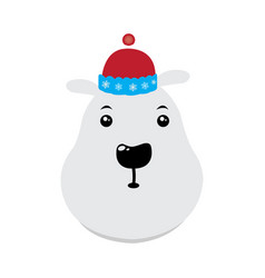 isolated polar bear vector image
