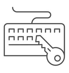 Keyboard and key thin line icon keyboard vector