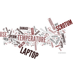 Laptops pose damage to male sexual health text vector