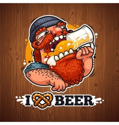 Man Loves Beer vector image