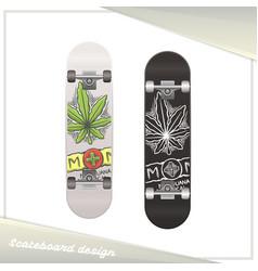 Medical marijuana skateboard two vector