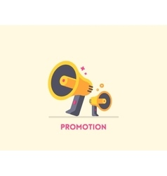 Megaphone icon Marketing promotion concept vector image