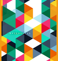 multicolored triangles abstract background mosaic vector image