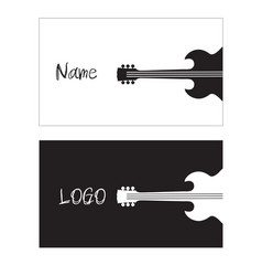 name card guitar background image vector image