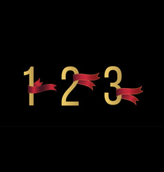 number 1 2 3 set vector image
