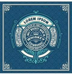 Old labels for Whiskey vector