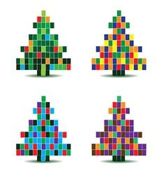 Pixelated christmas tree vector image