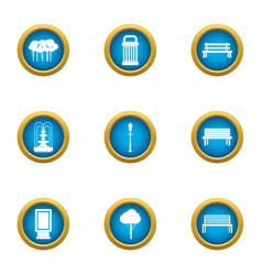 Quadrangle icons set flat style vector