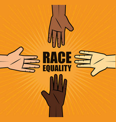 Race equality design vector